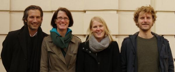 von links nach rechts: Lorenz Potocnik, Karin Lischke, Petra Hendrich, Ernst Gruber